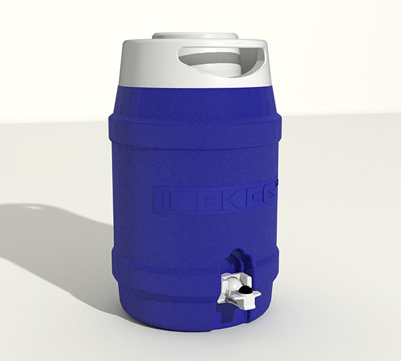 Icekeg 5 Litre Esky Easy Roll Materials Handling